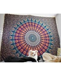 tapestry home decor amazing deal on indian psychedelic peacock mandala hippie bohemian