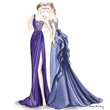 marchesa resort 2017 fashion illustration by draw a story our