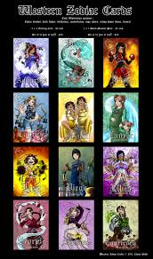 western zodiac cards by chaos child on deviantart