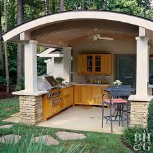 outdoor kitchen furniture outdoor kitchens in the landscape better homes gardens