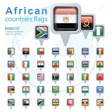 Flags Of African Countries Set Of African Flags Vector Illustration Royalty Free Cliparts