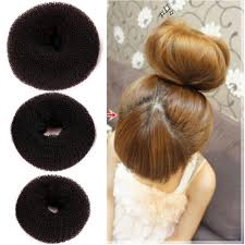 donut hair bun hair bun donut ring roll sponge former shaper hair diy stylish
