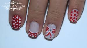 ribbon of minnie mouse fast and easy nail art tutorial youtube
