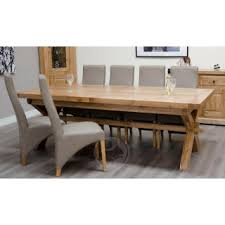 Large Wooden Kitchen Table by Large Extending Dining Tables Oak Furniture Uk