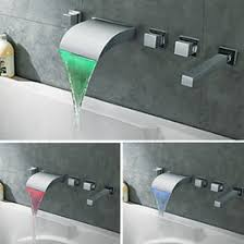 Led Bathroom Faucet by Discount Waterfall Bathtub Faucet Wall Led 2017 Waterfall
