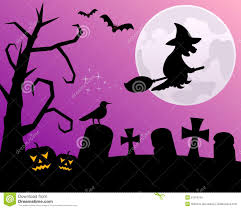 halloween night with witch royalty free stock image image 21316116