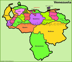 Map States by Venezuela States Map