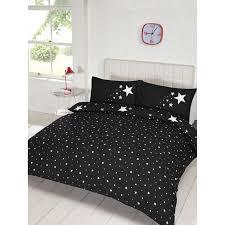 Dark Blue Duvet Glow In The Dark Double Duvet Set Black Bedding Duvet Sets