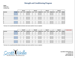 strength training program template u2014 scott welle health