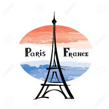 French Flag Eiffel Tower Travel France Label Paris Famous Building Eiffel Tower French