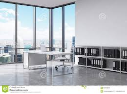 Free Office Furniture Nyc by A Ceo Workplace In A Modern Corner Panoramic Office In New York