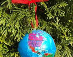 globe ornament etsy