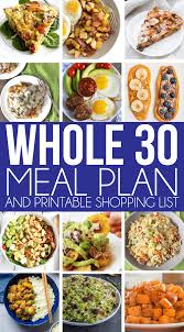 a great whole 30 meal plan for anyone on the whole 30 diet fit