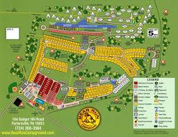 Pennsylvania State Parks Map by Bear Run Campground Map Campsites And Amenities