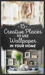 15 creative places to use wallpaper in your home