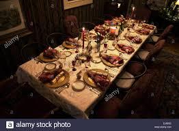 christmas dinner table setting ojai california usa stock photo christmas dinner table setting ojai california usa