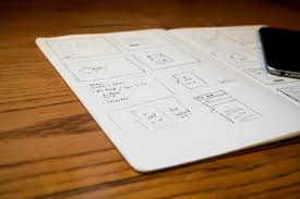 wireframe mobile app sketch iphone free stock photo negativespace
