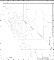 California Map Outline Free Map Of California