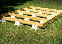 floating deck foundation no digging or pouring concrete lowes