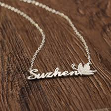 custom engraved pendant custom name necklace personalized necklace 925 silver jewelry