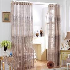 Patterned Sheer Curtains Tree Leaves Patterned Sheer Curtain Tulle Voile Door