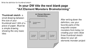 art elements monster project