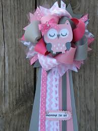 corsage de baby shower owl baby shower owl corsage corsage owl and babies