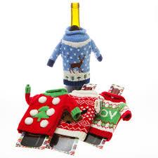 christmas wine bottle ugly sweater koozie ebay