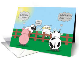 Cow Birthday Card Funny Birthday Animals Rudy Pig Moody Cow Ewe Turn Card 973895
