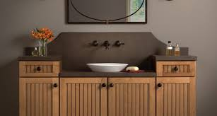 Cottage Style Bathroom Vanities by Cottage Wheatfield Maple Chocolate Glaze Like Different Heights