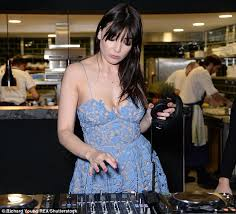 daisy lowe sports lace dress for dj duties at rio olympics
