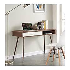 bureau 110 cm roset bureau 110 cm décor noyer amazon fr cuisine maison