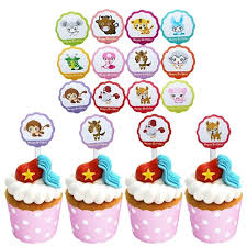 farm cake toppers 12pcs pac farm animals birthday party decoration monkey tiger