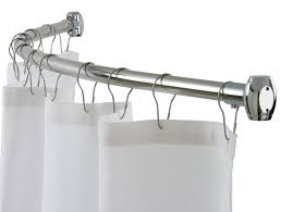 Curved Tension Shower Curtain Rods Interior Home Interior Collection By Home Depot Curtain Rods