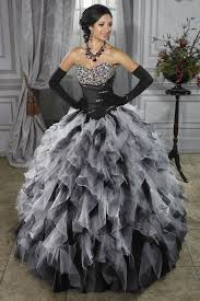 black and white quinceanera dresses 2015 new arrival beading sweet gown black white quinceanera