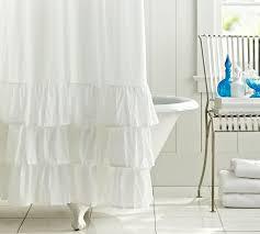 Ebay Pottery Barn Drapes Curtain Ruffled Curtains Ebay Inside Ruffled White Curtains