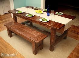 Rustic Farmhouse Dining Table With Bench Dining Table Superb Rustic Dining Table Dining Table With Bench As