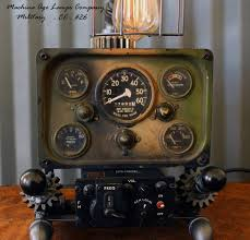 jeep military steampunk machine age aviation lamp willys jeep military air plane cc