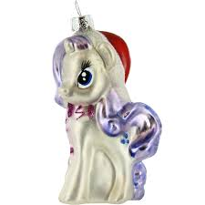 Glass Christmas Tree Ornament - my little pony rarity glass christmas tree ornament retrofestive ca