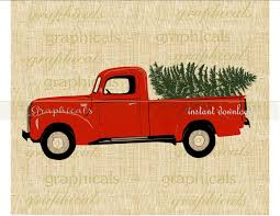 Vintage Ford Truck Decals - vintage red truck with christmas tree clipart clipartxtras