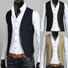 black navy blue chagne mens vests slim fit breasted