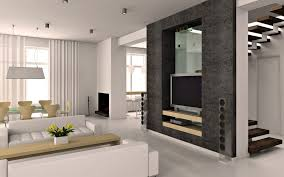 Apartments Contemporary Family Room Design With White Sectional - Family room design with tv