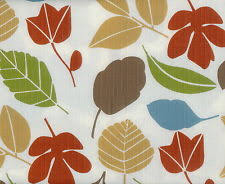 autumn fall harvest thanksgiving rust green leaves beige vinyl