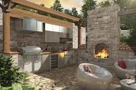 cuisine ext駻ieure design cuisines extérieurs patio terrasse créations folie bois