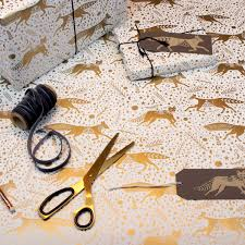 pretty wrapping paper stargazer gold fox wrap paper at the door gallery
