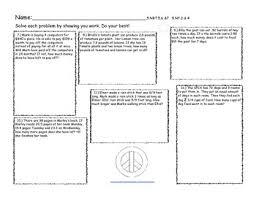 multi step word problems 5th grade printable 5th grade multi step word problem task cards worksheets by tess c