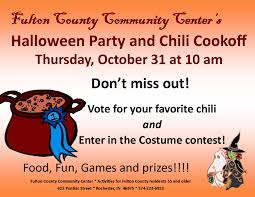fulton county community center halloween party and chili cookoff