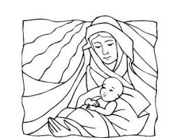 virgin mary coloring pages virgin mary and baby jesus religious