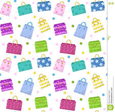 Backdrop Paper Cute Shopping Bag Seamless Pattern Colorful Bags With Different