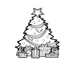 christmas tree gifts coloring pages christmas coloring pages